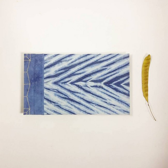Shibori With Indigo Notebook Handcrafted Special Edition Collaboration between La Agonía Libros & Tinctórea