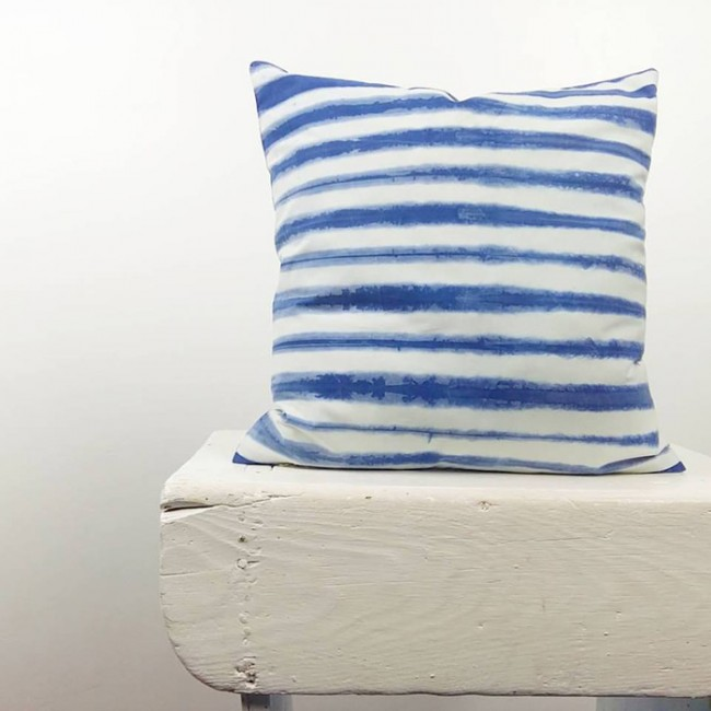 Square Shibori Cushion Itajime Sea Waves Inspiration