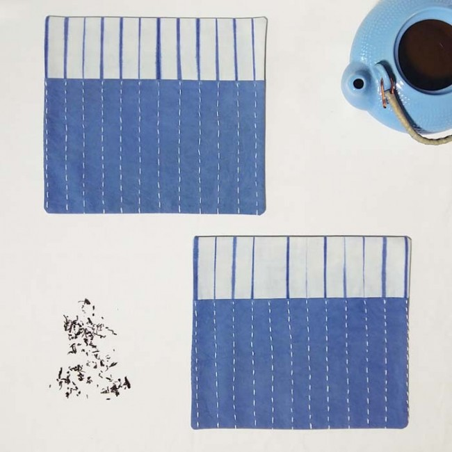 Tea Timer Mat Thin Mimic Style Shibori
